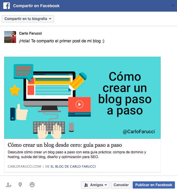 Dinamizar blog redes sociales