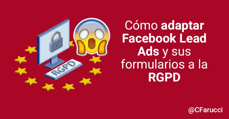 adaptar facebook ads a rgpd