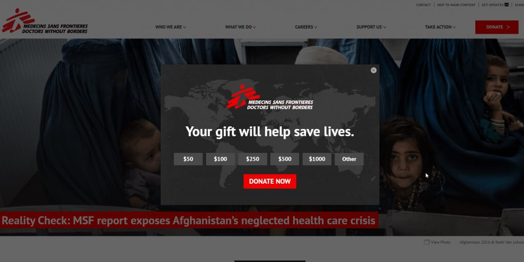 test ab donativos doctors without borders