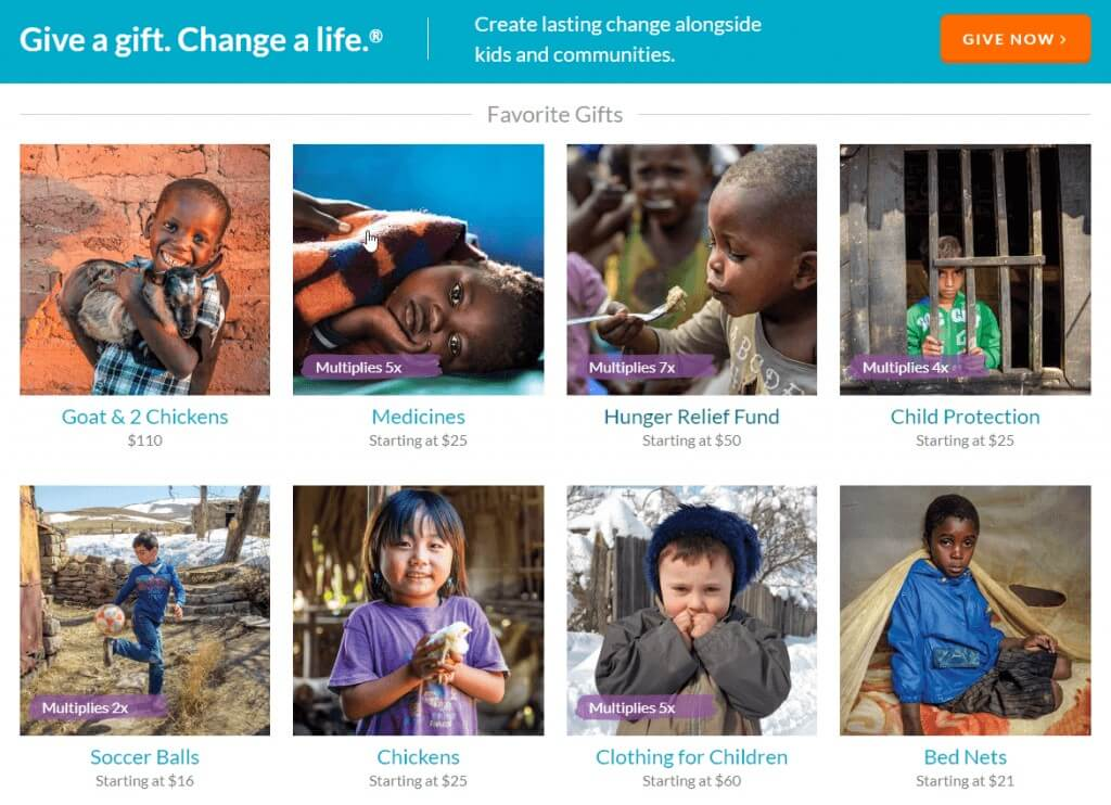 aumentar donativos world vision test ab